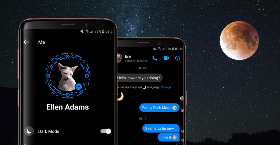 Facebook Messenger - tmavý režim
