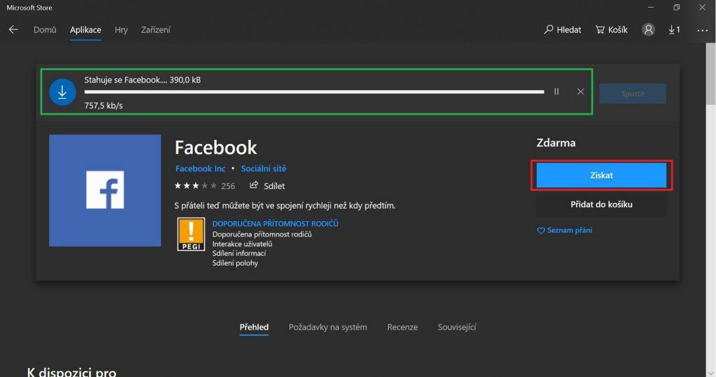 Facebook Windows - stahování