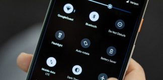 Android mobil - tmavé schéma