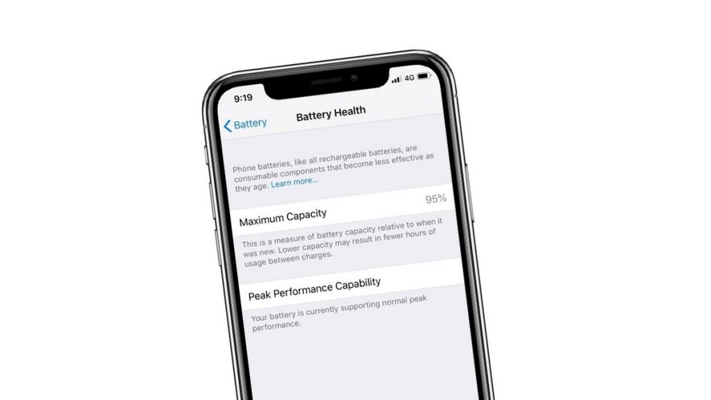 Kondice baterie iPhone